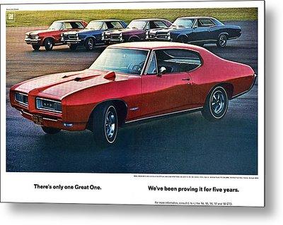 Pontiac Gto - 1964 1965 1966 1967 1968 Metal Print by Digital Repro Depot