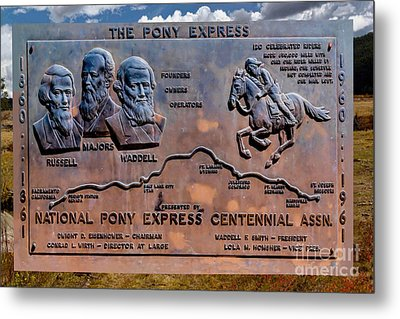 Pony Express Route Metal Print by Jon Burch Photography
