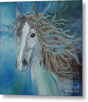 Pony Metal Print by Jenny Lee