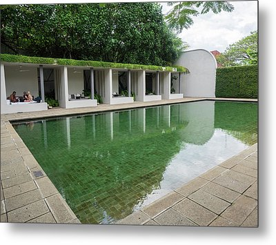 Pool At Amangalla Hotel, Galle Fort Metal Print by Panoramic Images