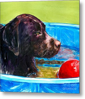 Pool Party Of One Metal Print by Molly Poole