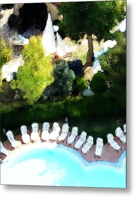 Pool - Piscina Metal Print by Ze  Di