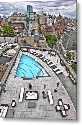 Pool With A View Metal Print