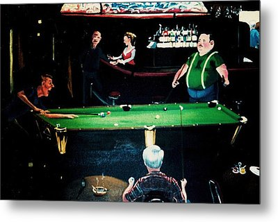 Pooling Around Metal Print by Susan Roberts