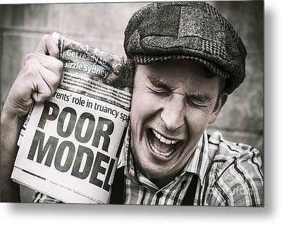 Poor Model Metal Print by Jorgo Photography - Wall Art Gallery