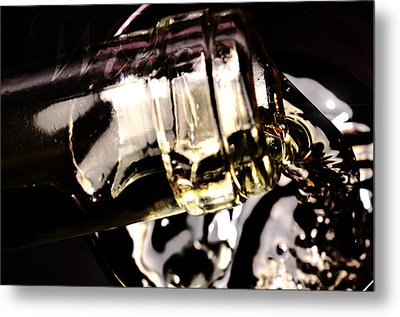 Pooring White Wine Metal Print by Tommytechno Sweden