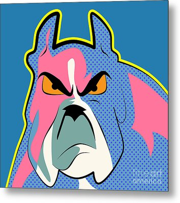 Pop Art Dog  Metal Print