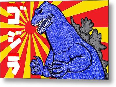 Pop Art Godzilla Metal Print by Gary Niles