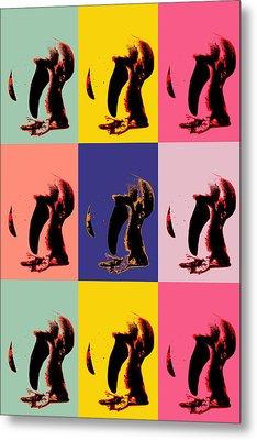Pop Art Penguin  Metal Print