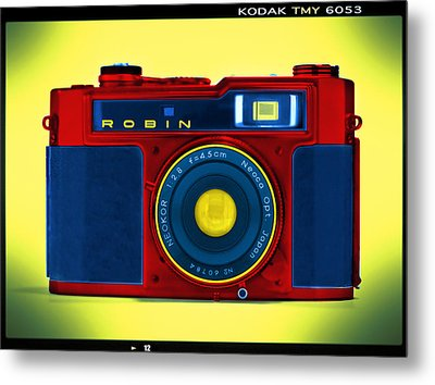 Pop Art Robin Metal Print by Mike McGlothlen