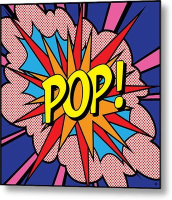 Pop Exclamation Metal Print