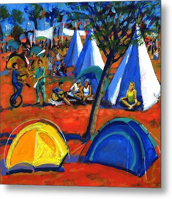 Pop Festival Metal Print by Paul Powis