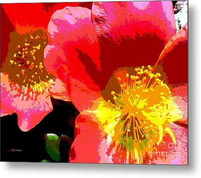Metal Print featuring the photograph Pop Goes The Poppy by Sally Simon