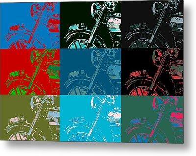 Popart Motorbike Metal Print