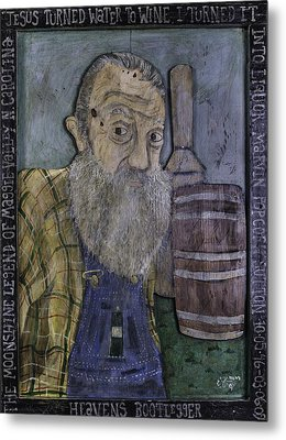 Metal Print featuring the painting Popcorn Sutton - Heaven's Bootlegger by Eric Cunningham