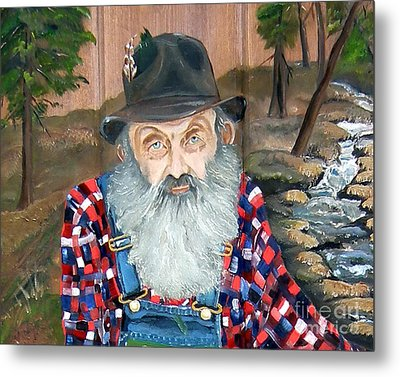 Popcorn Sutton - Moonshine Legend - Landscape View Metal Print