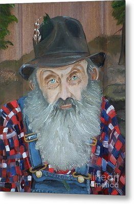 Popcorn Sutton - Moonshiner - Portrait Metal Print