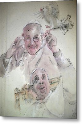 Pope Francis Album Metal Print