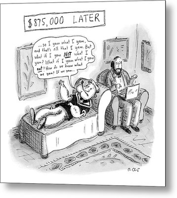 Popeye Lies On A Couch At Psychiatrist. Speaks Metal Print