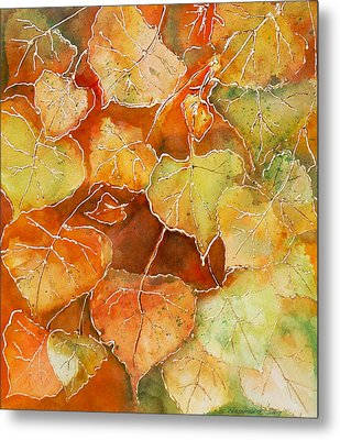 Poplar Leaves Metal Print by Susan Crossman Buscho