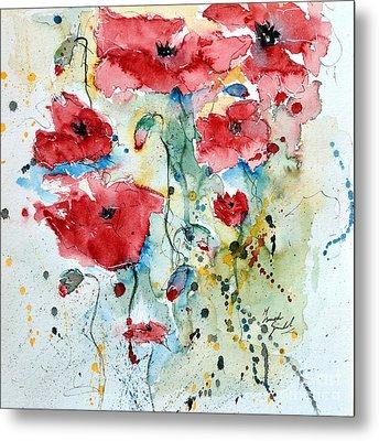 Poppies 04 Metal Print by Ismeta Gruenwald