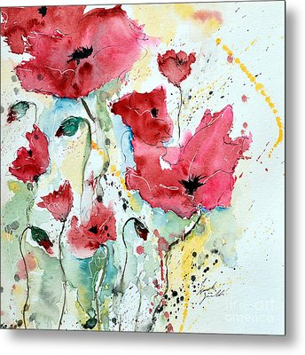 Poppies 05 Metal Print by Ismeta Gruenwald