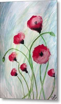Poppies Metal Print by Carol Duarte