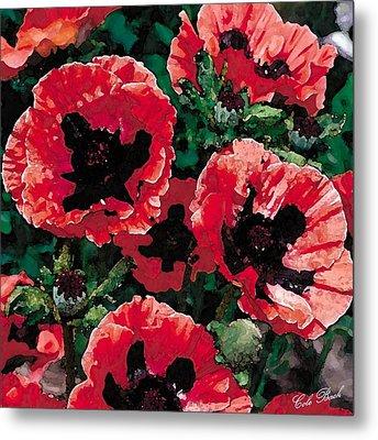 Poppies Metal Print by Cole Black