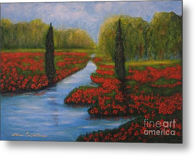 Poppies Guards Metal Print by Elena  Constantinescu
