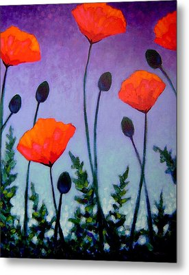 Poppies In The Sky II Metal Print by John  Nolan