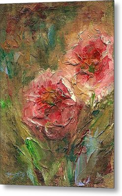 Poppies Metal Print by Mary Wolf