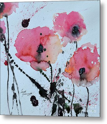 Poppies- Painting Metal Print by Ismeta Gruenwald