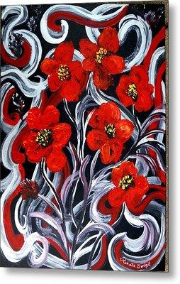 Poppies???? Metal Print by Renate Voigt