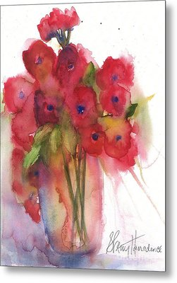 Poppies Metal Print by Sherry Harradence