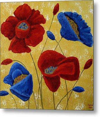 Poppies Metal Print by Susan McLean Gray