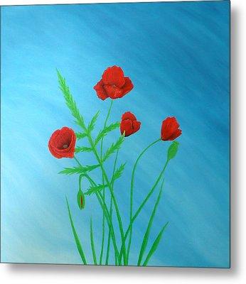 Poppies Metal Print by Sven Fischer