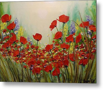 Poppies Metal Print by Svetla Dimitrova