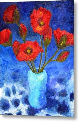 Poppies Metal Print by Valerie Lynch