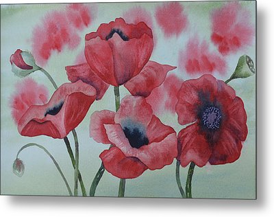 Poppy Dance Metal Print