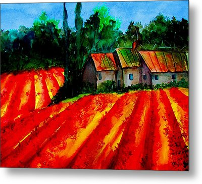 Metal Print featuring the painting Poppy Field  Sold by Lil Taylor