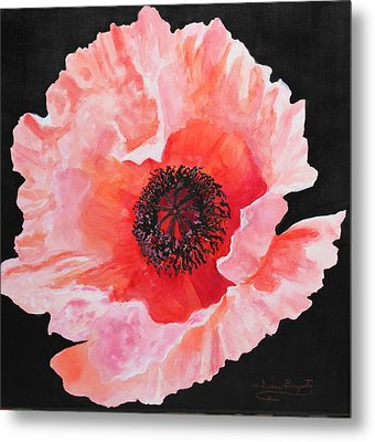 Metal Print featuring the painting Poppy Power by M Diane Bonaparte