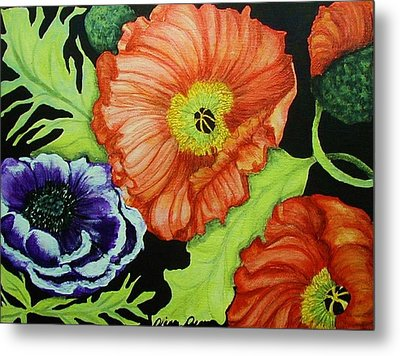 Poppy Surprise Metal Print by Diana Dearen