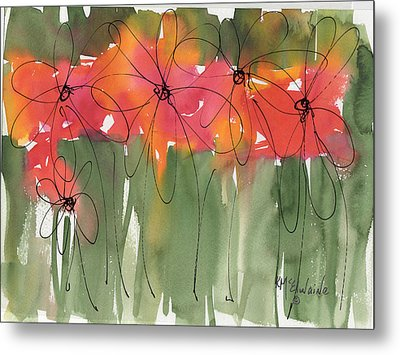 Poppy To Posy Metal Print by Kathleen McElwaine