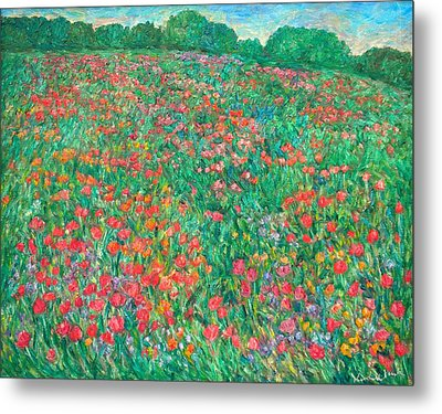 Poppy View Metal Print