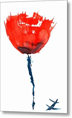 Poppy Metal Print by Zaira Dzhaubaeva