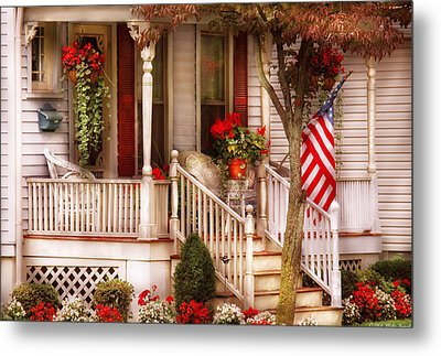 Porch - Americana Metal Print by Mike Savad