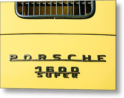 Porsche 1600 Super Rear Emblem Metal Print by Jill Reger