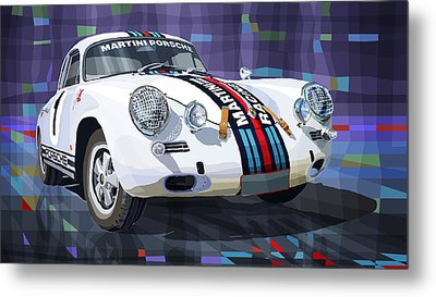 Porsche 356 Martini Racing Metal Print by Yuriy Shevchuk