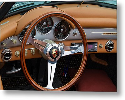 Porsche 356b Super 90 Interior Metal Print