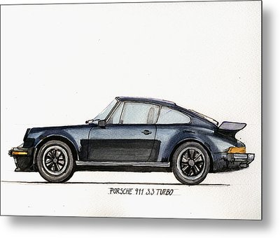 Porsche 911 930 Turbo Metal Print by Juan  Bosco